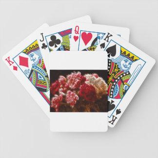 Bouquet rouge flamboyant de fleur de pivoine jeu de poker