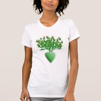 Bouquet vert de tracteur avec le T-shirt de vase à
