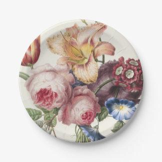 Bouquet vintage assiettes en papier