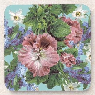 Bouquet vintage de fleur dessous-de-verre