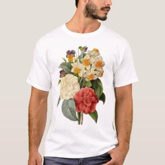Bouquet vintage de mariage, fleurs de floraison t-shirt