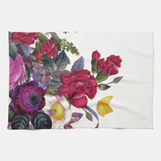 Bouquet vintage linge de cuisine