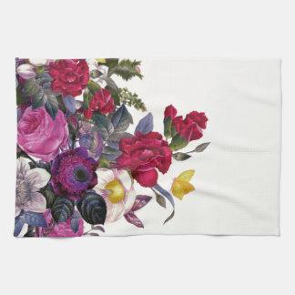 Bouquet vintage serviette éponge