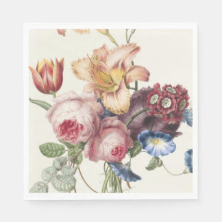Bouquet vintage serviette jetable