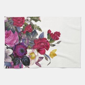 Bouquet vintage serviette pour les mains