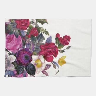 Bouquet vintage serviettes pour les mains