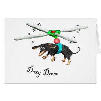 Bourdon de Doxy, vol de teckel avec un bourdon Carte De Vœux