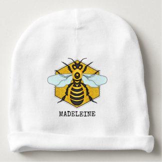Bourdon mignon de nid d'abeilles d'abeille bonnet de bébé