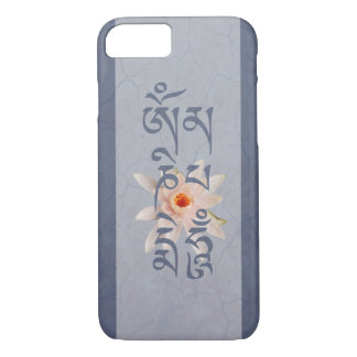 Bourdonnement Lotus - bleu de l'OM Mani Padme Coque iPhone 7