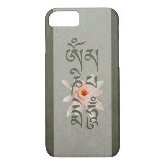 Bourdonnement Lotus de l'OM Mani Padme - bleu-vert Coque iPhone 7