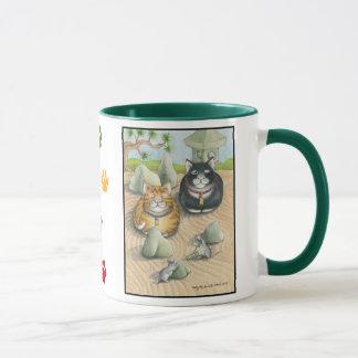 Bourgeon de chats et vert élégant de tasse de