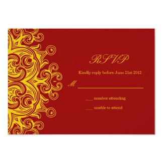 Bourgogne et RSVP l'épousant jaune Invitations Personnalisées