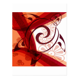 Bourgogne-Floral-Tortue Cartes Postales