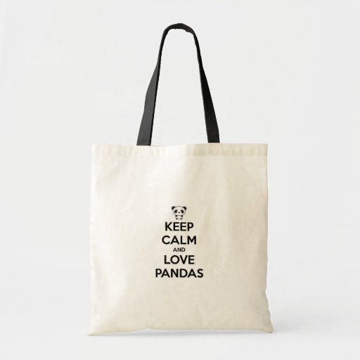 Bourse Keep Calm Panda Sacs Fourre-tout
