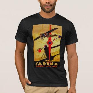 Boussole d'art déco de Sabena T-shirt