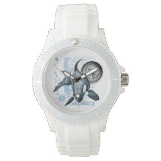 Boussole de baleine d'orque montres bracelet