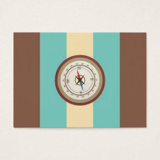 Boussole nautique sur rétro Brown crème bleu Cartes De Visite