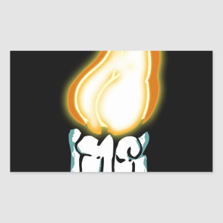 Bout chaud sticker rectangulaire