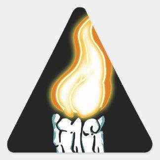Bout chaud sticker triangulaire