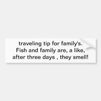 bout de déplacement pour la famille. Les poissons  Autocollant De Voiture