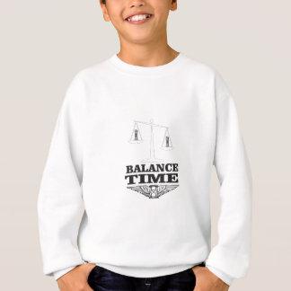 bout d'équilibre de temps sweatshirt