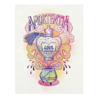 Bouteille de philtre d'amour du charme | carte postale