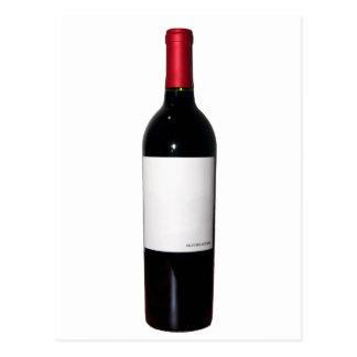Bouteille de vin (étiquette vide) - carte postale