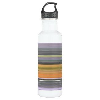 Bouteille D'eau #1 abstrait : Jaune et gris