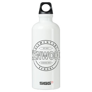 Bouteille d'eau avec le logo élémentaire blanc de