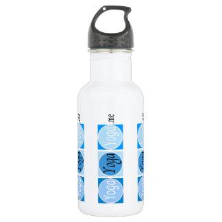 Bouteille d'eau bleue de logo de YogaYogaYoga.me