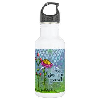 Bouteille D'eau Bot positif adorable de l'eau de fleur de