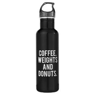 Bouteille D'eau Café, poids et butées toriques - gymnase drôle de