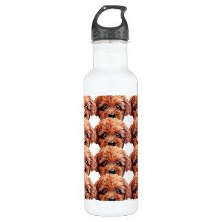 Bouteille D'eau Caniche de jouet brun-rougeâtre, original par le