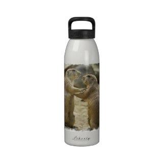 Bouteille d'eau d'affaire de chien de prairie