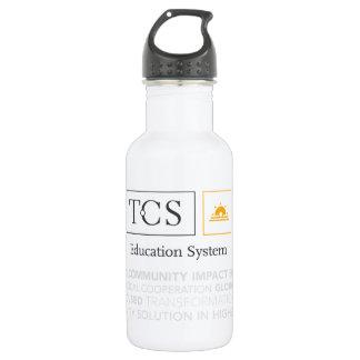 Bouteille d'eau de blanc de typographie de TCS