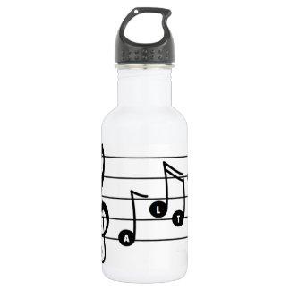 Bouteille d'eau de chanteur d'alto