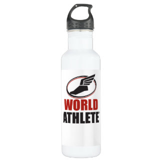 Bouteille d'eau de coutume d'Athlete® du monde