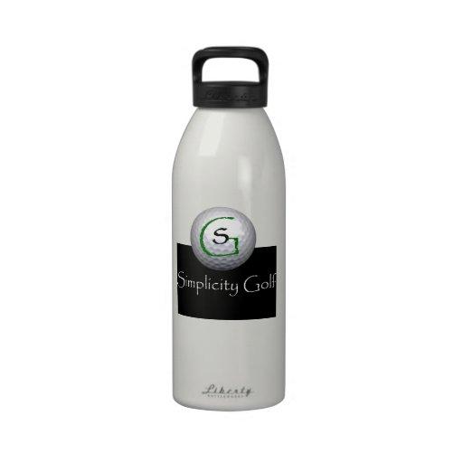 Bouteille d'eau de golf de simplicité