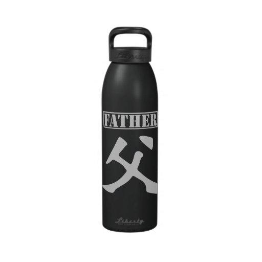 Bouteille d'eau de père