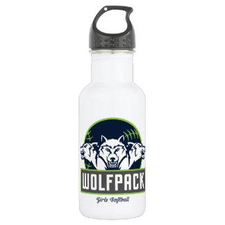 Bouteille d'eau de WolfPack (18 onces), blanche