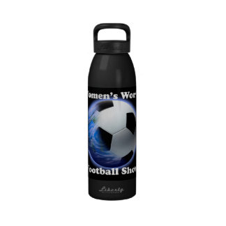 Bouteille d'eau d'exposition du football du monde