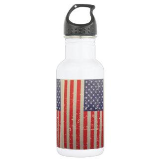 Bouteille D'eau Drapeau américain patiné et affligé des Etats-Unis