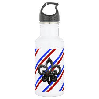 Bouteille D'eau Drapeau français de rayures