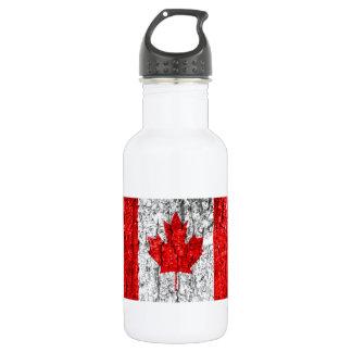 Bouteille D'eau Écorce d'arbre canadienne de drapeau