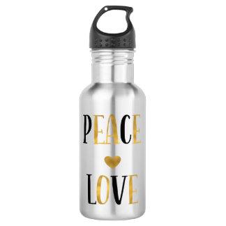 Bouteille D'eau En Acier Inoxydable Coeur d'amour de paix