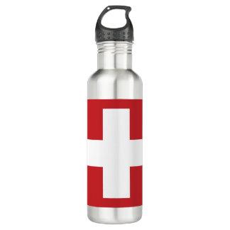 Bouteille D'eau En Acier Inoxydable Drapeau de la Suisse
