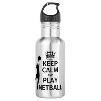 Bouteille D'eau En Acier Inoxydable Gardez le net-ball de calme et de jeu