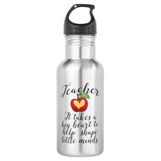 Bouteille D'eau En Acier Inoxydable Grand coeur à aider à former le petit professeur