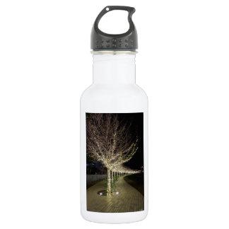 Bouteille D'eau En Acier Inoxydable Passage couvert rougeoyant d'arbres