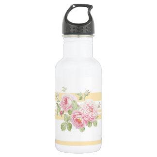 Bouteille D'eau En Acier Inoxydable Renoncule de roses d'été de jour de mai